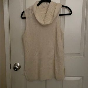 Cowl neck waffle knit tunic